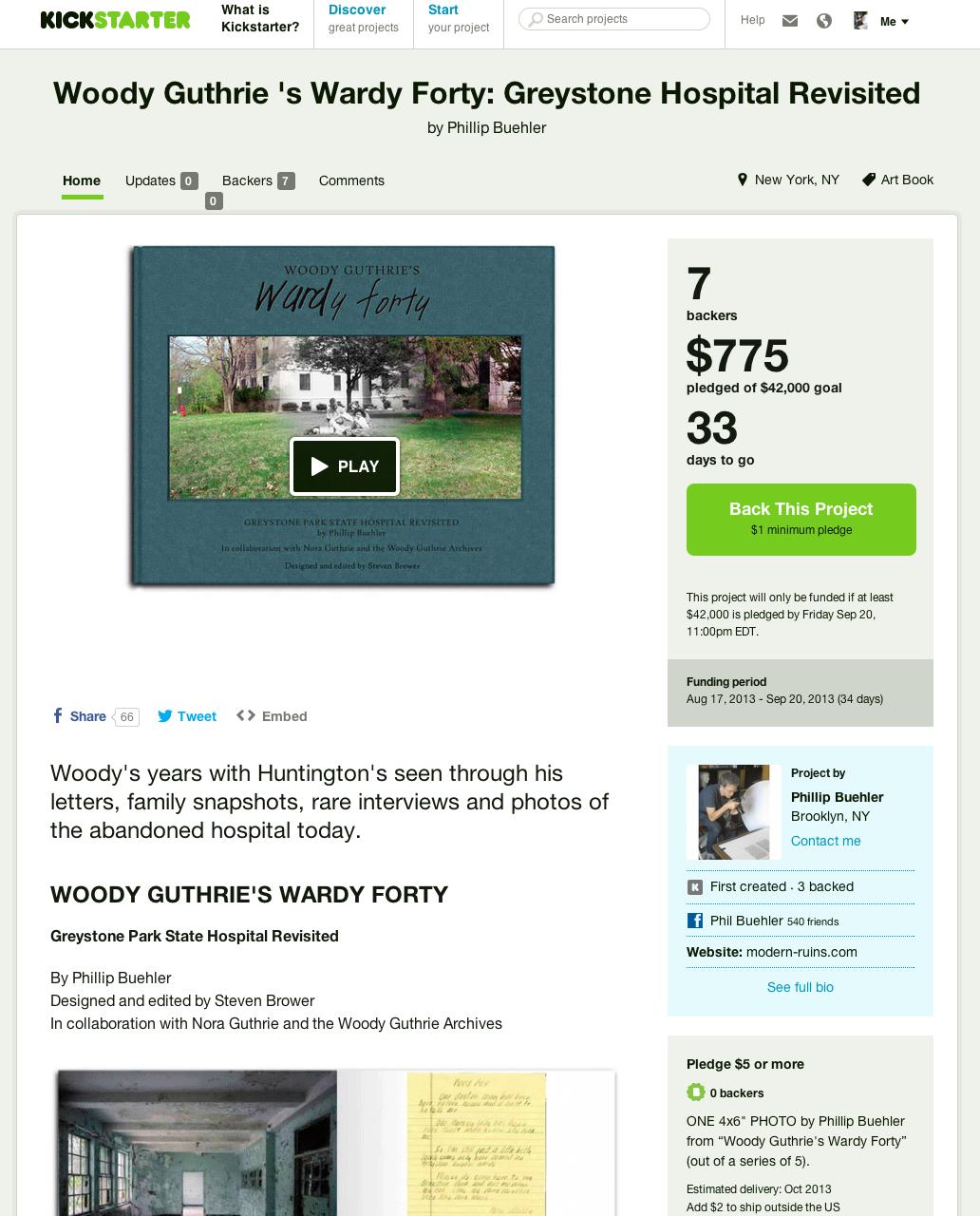 Kickstarter Page