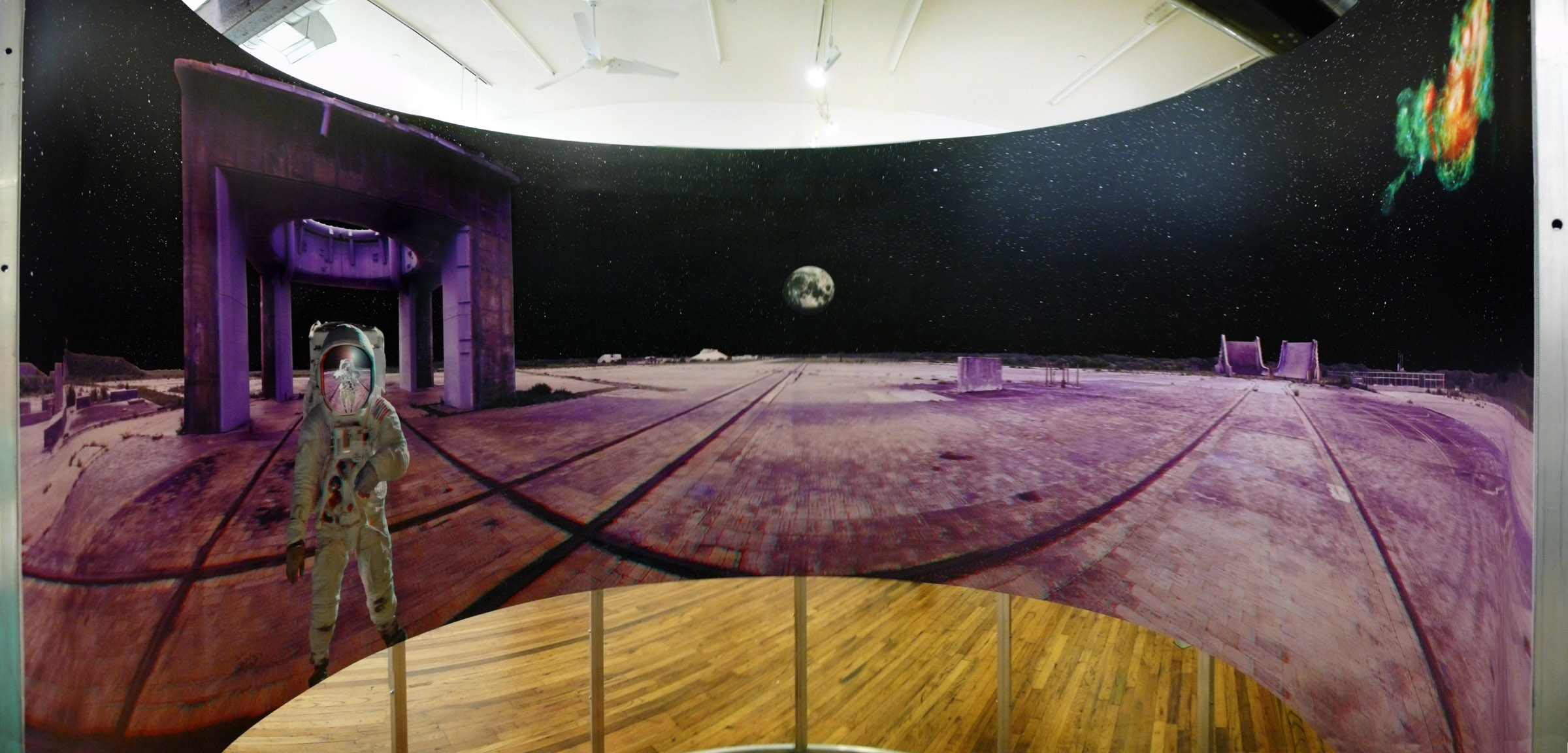 """Inside view, """"Complex 34"""" panorama"""