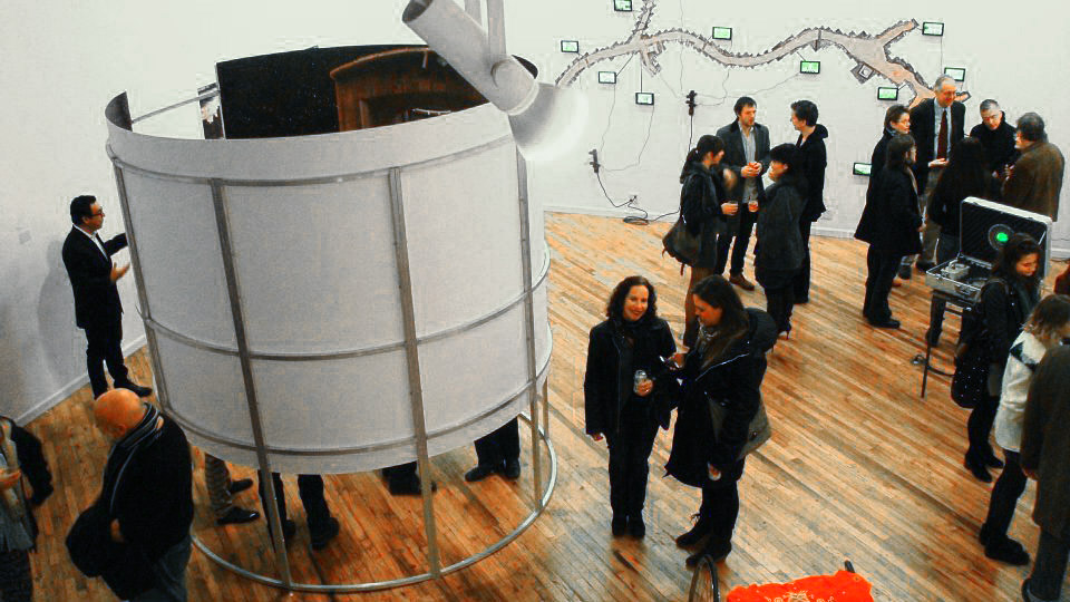 Installation view, opening reception.