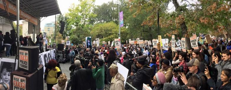 Protest at Washington Square Park that week.